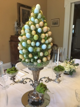 Easter-egg topiary by Kitty Bray